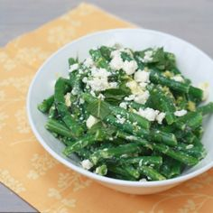 Fresh mint in your garden? Use it in this side dish featuring green beans and feta!