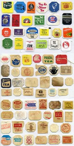 Tea tags. PD