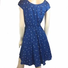 Boden Dresses - 12 Boden Blue Polka Dot 50's Style Dress