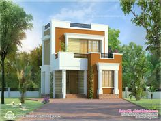 Small Cute House Plans - 2018 House Plans and Home Design Ideas Small House Images, Small House Design, Cool House Designs, Condo Design, Studio Design, Modern House Plans, Small House Plans, Cute Small Houses, Interior Paint Colors