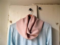 Dusty pink scarf, lightweight scarf, infinity scarf, spring accessories
