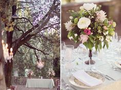 Beautiful Tuscan wedding...love the outdoor chandeliers