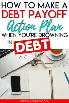 How to Create a Debt Payoff Action Plan when you're Drowning in Debt - Family Budget & Money Management - credit cards The Plan, How To Plan, Debt Repayment, Debt Payoff, Debt Consolidation, Vida Frugal, Paying Off Credit Cards, Planning Budget, Financial Planning