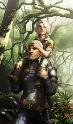 Geralt and Ciri by lockjaw on @DeviantArt