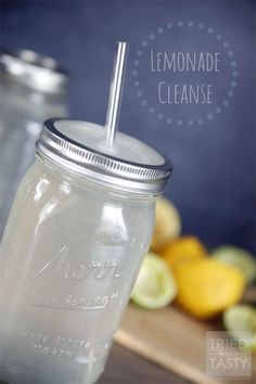 Lemonade Cleanse // Need help getting your daily water intake? This lemonade is made without any refined sugar. It's the perfect reset & detox and a healthy drink you can enjoy any day of the week! | Tried and Tasty