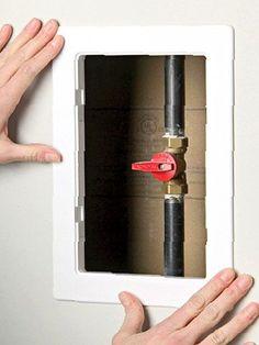 Framed access panel diy pinterest basements for Basement access from garage