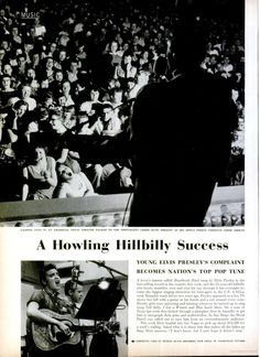 """A Howling Hillbilly Success"" - First mention of Elvis Presley in LIFE Magazine, April 30, 1956"