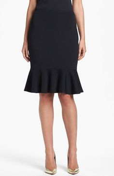St. John Collection Flounce Hem Milano Knit Pencil Skirt available at #Nordstrom