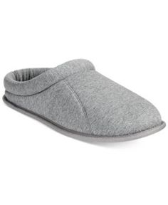 Club Room Men's Jersey Clog Slippers, Only at Macy's - Gray