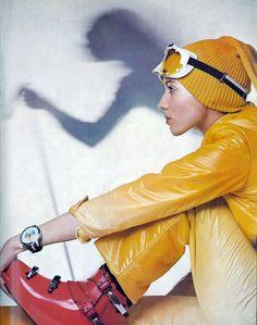 vintage ski fashion - Moyra Swan by Lategan Vogue 1969 UK