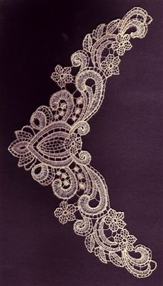 Adorable Ideas Embroidery Design: Lace Neckline 9.72 inches H x 6.39 inches W