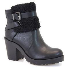 cityClassified Black Bowlin Bootie NWOB - New without box: cityClassified Black Bowlin Bootie  Featuring a faux fur embellishment and chunky sole, this zip-up bootie promises all-day allure.  3.5'' heel with 1'' platform 4.5'' shaft 10'' circumference Side zip closure Man-made Imported cityClassified Shoes Ankle Boots & Booties