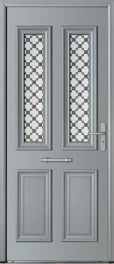 Porte avec ouvrant vitré \ grille en font Partie vitrée ouvrante - porte d entree d occasion