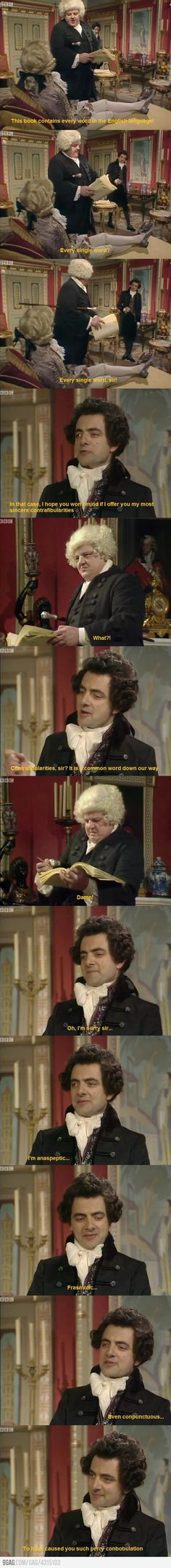 Black Adder trolling Dr. Johnson. One of the funniest scenes in Blackadder. This Blackadder was my favourite