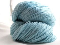Handspun Sock Yarn Baby Blue by merlinthecat on Etsy, $42.30