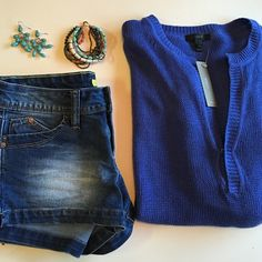 """Linen J Crew Sweater Turn heads with your casual style, without spending your whole check. Super comfy, gorgeous royal blue mess sweater. Simply classic. Fabric: 100% Linen. NWT. YMI shorts and bracelet each sold in a separate listing. Laying Flat: Shoulder Width: 22"""" Bust Width 21"""" Sleeve Length 24"""" Sleeve Width 3.5"""" Hem Width 22"""" Total Length: 26"""" J. Crew Sweaters V-Necks"""