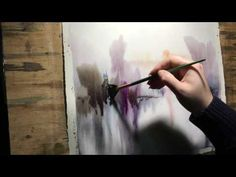 "Watercolor lesson, wet on wet technique without drawing: ""Guarding"" - YouTube"