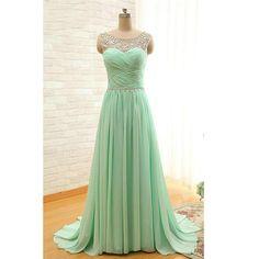 Chiffon Prom Dresses Floor Length pst0378