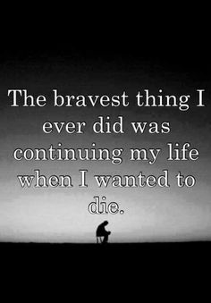 That is the bravest thing I've ever done!