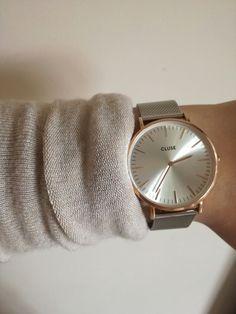 Cluse La Boheme watch - Rose gold / silver mesh