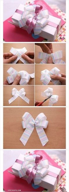 How to make present bow bows - #diy