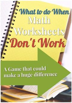 When math worksheets don't work