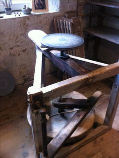 Kick wheel, Leach Pottery. St. Ives