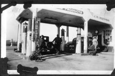 gulf station 1920 black and white photos - Google Search