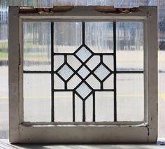 Vintage Leaded Glass Windows | Antique Leaded Glass Window Art Deco ...