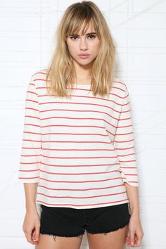 BDG Stripe Breton Top at Urban Outfitters
