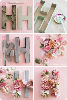DIY Floral Decorativ