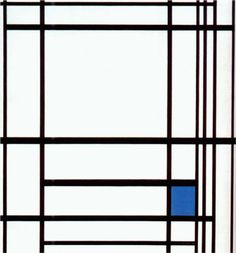 """jiacollection: """" Mondrian - Composition with Blue. """" Piet Mondrian, Composition with Blue, 1937 Piet Mondrian Artwork, Three Primary Colors, World Map Art, Square Art, Blue Square, Josef Albers, Dutch Painters, Post Impressionism, Oil Painting Reproductions"""