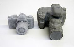 Junkculture: Glass Stone & Sand Camera Sculptures by Daniel Arsham