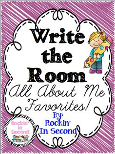 Write the Room All About Me Favorites Back to School Favorite!! *Great way to break the ice the first week of school and get the students moving around the room. *Print, laminate, and place them around the room. *Students move from place to place answering 10 questions about their favorites. *Recording sheet included. You can take those recording sheets and turn it into 10 class graphs about their favorites.  Follow me on TPT for more fun and exciting products and FREEBIES!! First Grade, Second Grade, First Day Of School, Back To School, All About Me Project, 2nd Grade Writing, Beginning Of Year, Teaching Reading, Teaching Ideas