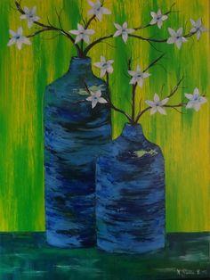 Karsten Berlin - Stillleben mit blauen Vasen