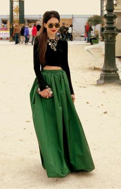 longue jupe vert pour soirée                                                                                                                                                                                 Plus