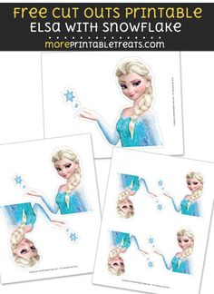 Free Elsa with Snowflake Cut Out Printable with Dashed Lines - Frozen Elsa Birthday, 3rd Birthday, Party Printables, Free Printables, Princess Theme, Frozen Party, Free Prints, Program Design, Cut Outs