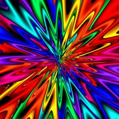 #Rainbow #fractal #psychedelic http://the-psychedelic-sea.tumblr.com/post/33896968510/must-be-morning