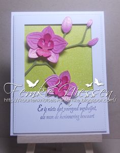 made by Femke Niessen: mini series Sympathy cards # 1. you can find the translations from the sentiments on my blog.