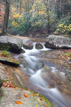 Waterfalls on Roaring River At Stone Mountain A North Carolina State Park Fine Art Photo by JohnHarmonGallery, $25.00 USD
