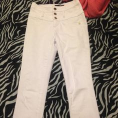 White high waisted jeans Charlotte Russe white high waisted white jeans size 0 like new refuge Pants Skinny