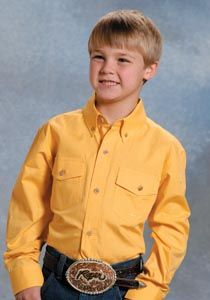 bd3e9472c Boys  Yellow Western Shirt. Cowboy Outfitters · Kid s Western Wear