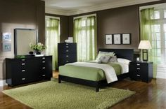 These bedroom colors are very calming!