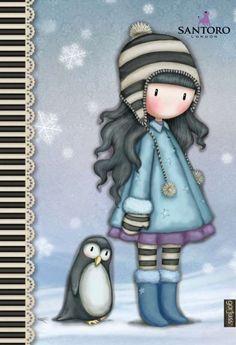 Cute Images, Cute Pictures, Fairy Sketch, Scrapbook Bebe, Sweet Drawings, Art Journal Prompts, Cute Cartoon Girl, Kokeshi Dolls, Christmas Books