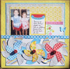 """One of a Kind"" scrapbook layout by Gina Lideros for Creating Keepsakes magazine. #scrapbook #scrapbooking #creatingkeepsakes"