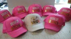 #Gorras #TheBride #DrinkUp #GorrasFosfo #Eventshirts #DespedidadeSoltera