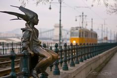 The Little Princess Statue at Vigado Square, by the line of tram 2, Budapest, Hungary