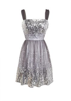 Sequin Mesh Flare Dress in  from Delias on shop.CatalogSpree.com, your personal digital mall.