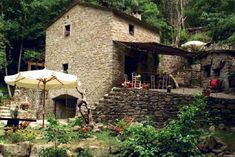 Architect Restored Mill near a Village - Casa Tuscany Lucca, Property For Sale, Gazebo, Restoration, Villa, Outdoor Structures, Cabin, House Styles, Building