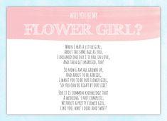Will You Be My Flower Girl Card - Flower Girl Invitation - Flower Girl Poem - Will You Be My Bridesmaid Card